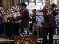 Gavin Erry on Trombone with WCB Pershore Brass Pershore Abbey2010 (29)